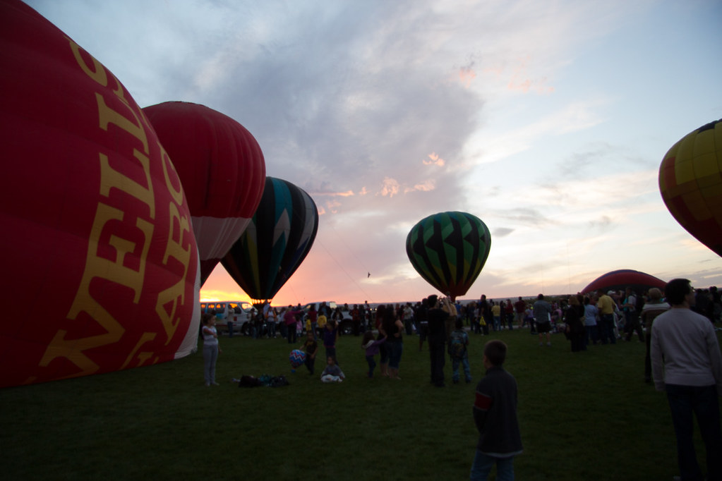 Evening Glow at the Balloon Fiesta in Albuquerque