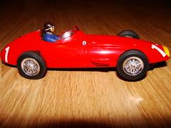 race car, model car, automobile, maserati 250f, vehicle, red, automotive design, open-wheel car, vintage car, scale model, land vehicle, toy, sports car,