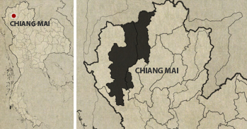 Chiang Mai Grand Canyon Location Map