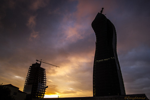 morning sunrise canon project office construction baku azerbaijan 1750 tamron socar bakü azerbaycan azersu