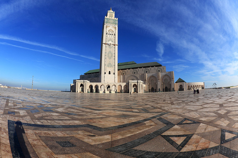 Hassan II Mosque fisheye
