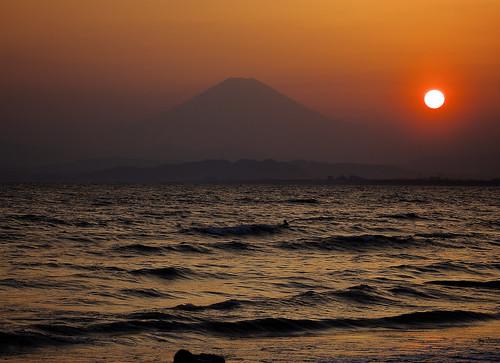 sea mountain japan fuji mt sunsets kanagawa kugenumabeach enoshimakugenumabeach