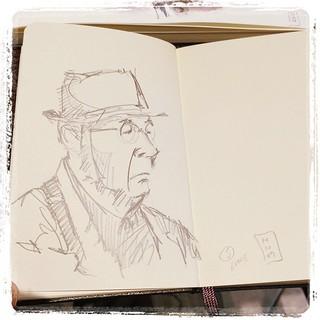 #japon #metro #portraits #moleskine #urbansketch #pentel #kerry