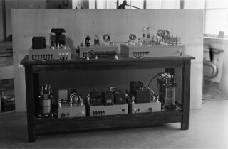 The 300 W short wave transmitter Pasila III in the workshop of Fabianinkatu radio house, ca. 1940.