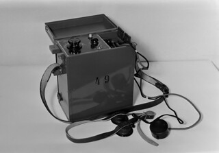 Short wave radio telephone made in Yleisradio's workshop, 1940.