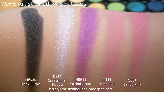MUFE Artist Shadow Eyeshadow Swatches 2 Row 8