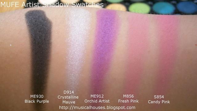 MUFE Artist Shadow Eyeshadow Swatches 2 Row 8