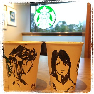 #japon #tokyo #starbucks #pentelpocketbrushpen #pentel #portraits