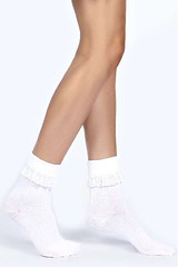 boohoo white ankle socks
