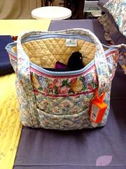 My new vintage Vera Bradley Petite Miller bag in Pastel Blue ... I'm so in love with this bag ❤️