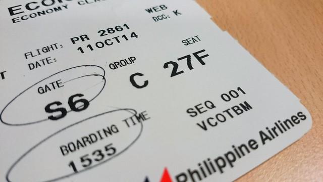Ticket to Cebu.
