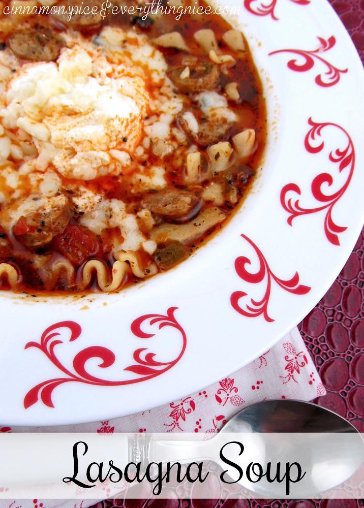 Lasagna Soup #soup