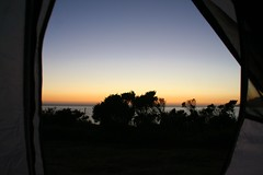 View from Inside my Tent