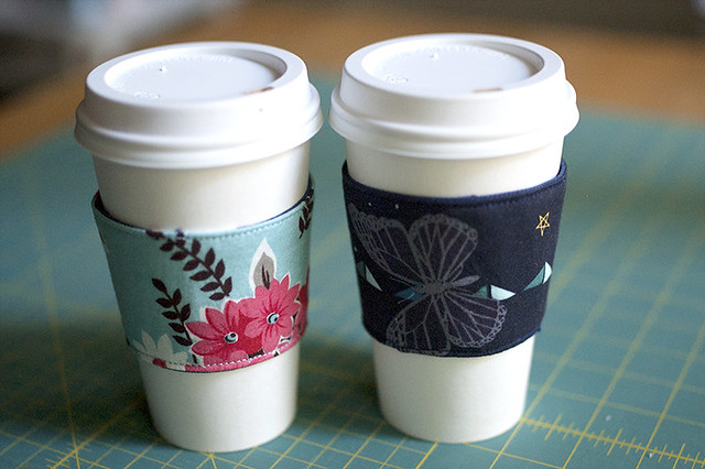 fabric coffee cup sleeves