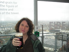 Jayne enjoys the best glass of Guinness EVER