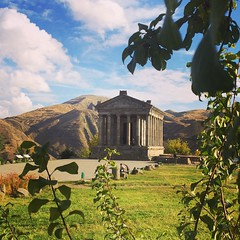 Temple of #Garni and the sacred geometry that symbolize the universe and life. #armenia #travel #roman #ruins #pagan