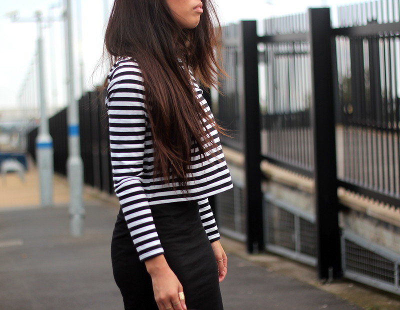 Article 21 Uk Fashion & Style Blog, F&F Striped Crop, Monochrome Crop Top, Black Midi Skirt, Striped Top, uk fashion blogger, top uk blogs, best uk fashion blogs, british fashion blogs, uk chinese blogger, manchester fashion blogger