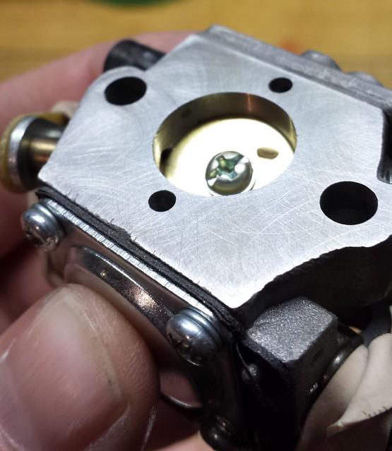 Carburetor to heat block mating surface - after