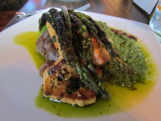 Grilled Olive Pesto Tofu from Plum Bistro