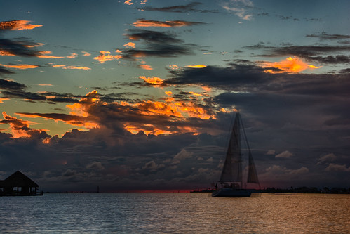 ocean sunset galveston clouds sailboat bay texas hdr nikfilters nikonphotography hdrefexpro hdrefpro