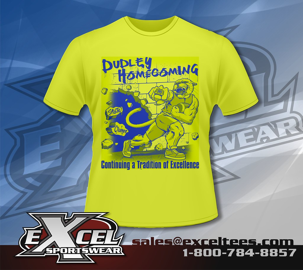 Tshirt design for alumni homecoming - Dudley High School Greensboro