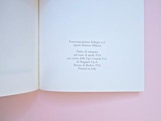 André Aciman, Chiamami col tuo nome. Guanda 2014. grafica di Guido Scarabottolo; illustrazione Giovanni Mulazzani. Pagina dello stampatore (part.), 1