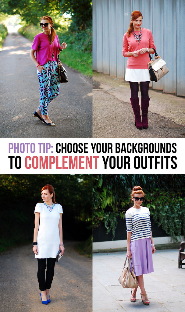 Photo Tips: Choose your backgrounds to complement your outfits