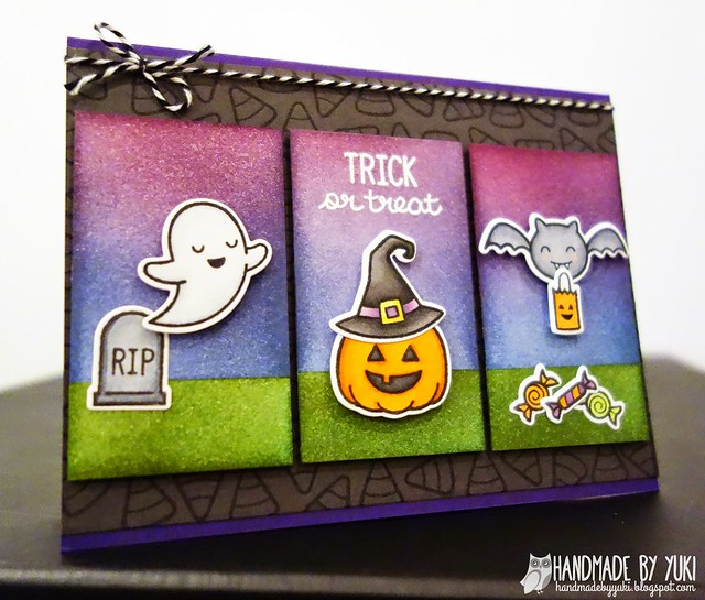 """Trick or Treat"" Card featuring Lawn Fawn"