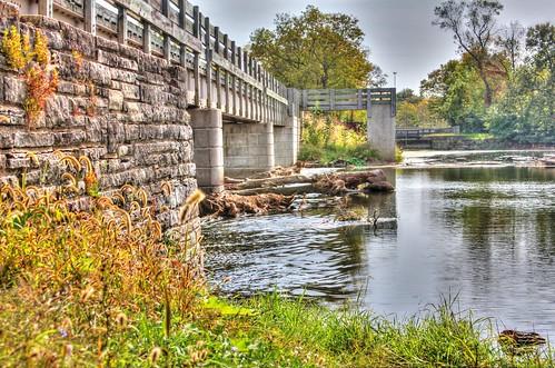 illinois dam historic trail hdr biketrail channahon imcanal dupageriverdam