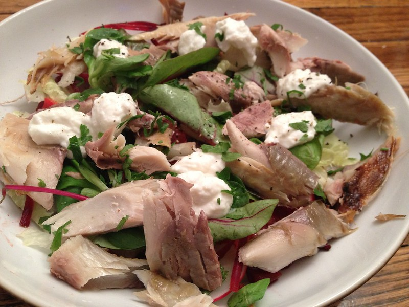 Smoked Mackerel Salad with Horseradish Yoghurt : Flake the Mackerel