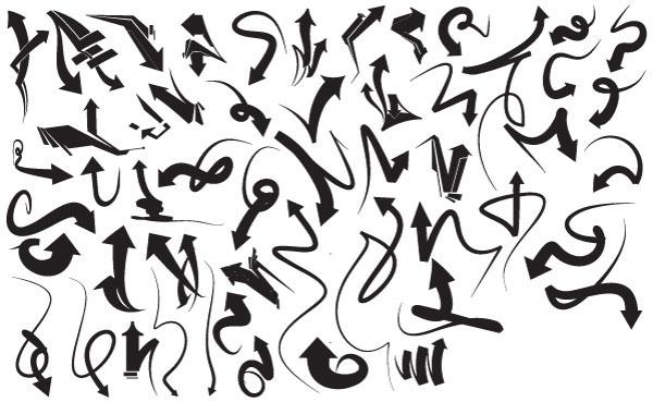Vector Graffiti Arrows