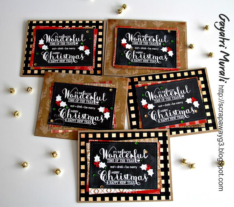 Vintage chalkboard christmas cards