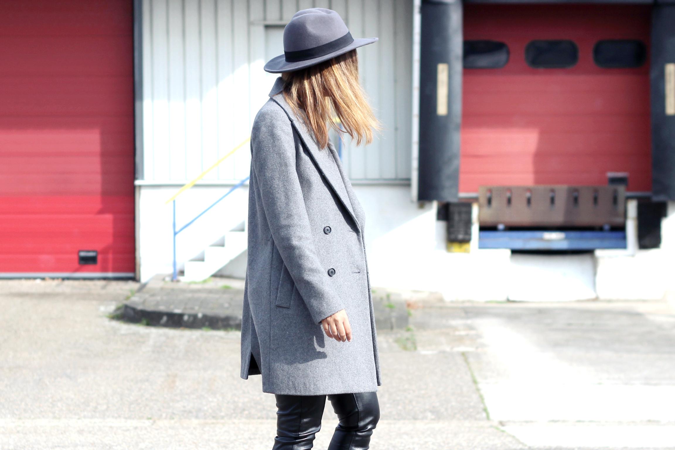 Grey-coat-fedora-leather-pants-street-style
