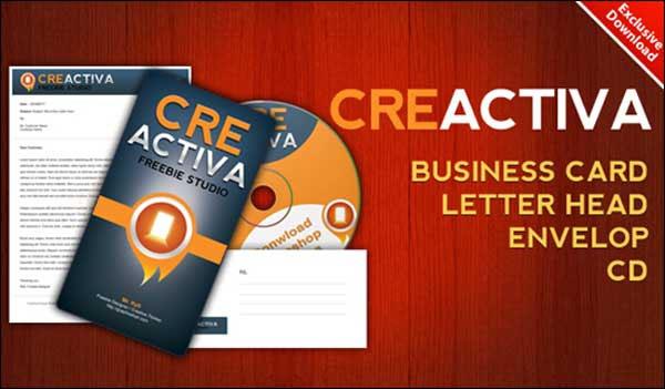 Business card, letterhead, envelope, CD label .PSD files