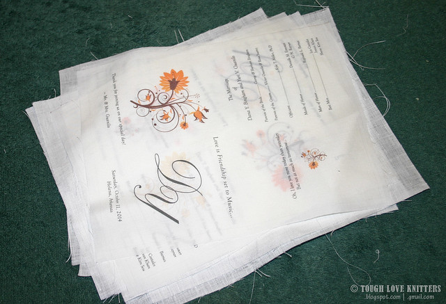 Wedding Program Handkerchiefs