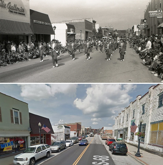 Downtown Lebanon, KY: Main Street, 30 Years Apart