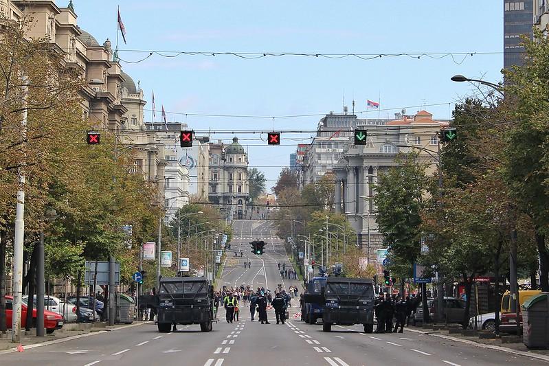 Blocked streets