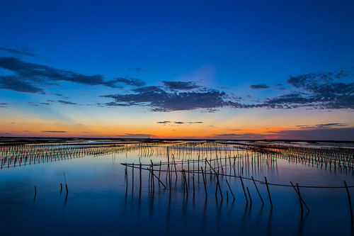 blue sunset sea color canon taiwan 夕陽 tainan 台灣 台南 6d 鹽田 色溫 井仔腳鹽田