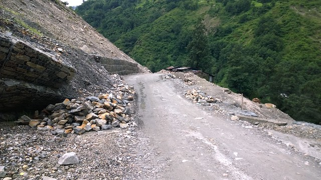 "Arniko Highway ""Dangerous Roads"" landslide"