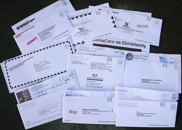 9 random political junk mail