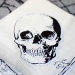 Skull printed napkin