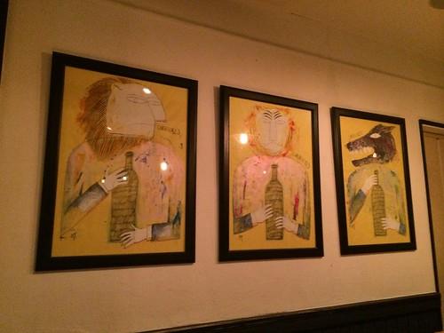 壁の絵画@ル・ブション・オガサワラ