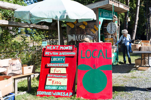 Local Apples at Cusheon Cove. Salt Spring Island, BC (9/28/14)