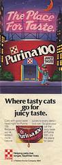 """Purina 100:: """"Where tasty cats go - -"""" (( 1984 ))"""