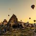 Early morning hot air balloons rising by Semih Çiçek
