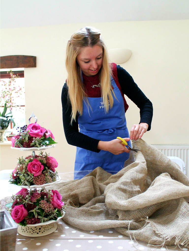 Totally Flowers flower arranging course
