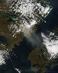 Resuspended volcanic ash from Katmai, Alaska