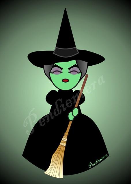 Kokeshi Bruja del oeste de El mago de Oz