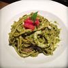 Seafood basil  sauce pasta