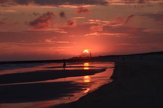 Sunset Blavand Denmark